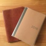 今年の手帳カバーは革でハンドメイド