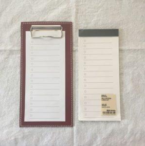 ハンドメイド無印良品チェックリスト用クリップボード